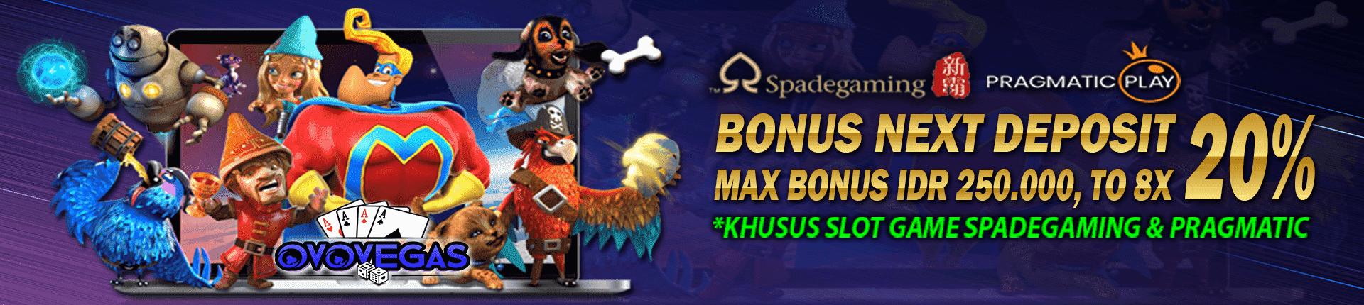 deposit bonus 20% ovovegas